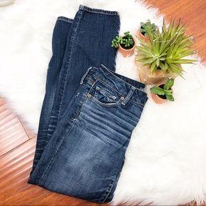 AEO Stretch Skinny Blue Denim Jeans 4